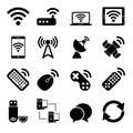 Bezdrôtový prístroje ikony sada