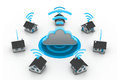 Wireless Home connection Royalty Free Stock Photo