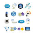 Wireless icon set Stock Images