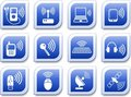 Wireless icons Royalty Free Stock Photo