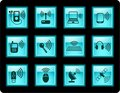 Wireless icons Stock Photography