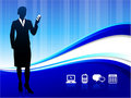 Wireless internet communication background Stock Photo