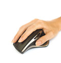 Wireless mouse with hand Royalty Free Stock Photos