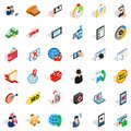 Wireless telecom icons set, isometric style Royalty Free Stock Photo