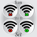 Wireless wi-fi locked and unlocked icon Royalty Free Stock Photo