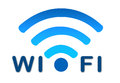 Wireless wifi network blue icon Royalty Free Stock Photo