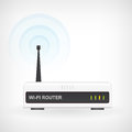 Wireless wifi router modem vector icon web wawes Stock Image