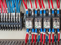 Wiring PLC Royalty Free Stock Photo