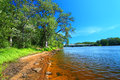 Wisconsin River Landscape Portage Royalty Free Stock Photo