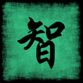 Wisdom Chinese Calligraphy Set Royalty Free Stock Photo