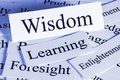 Wisdom concept a conceptual look at foresight learning enlightenment Royalty Free Stock Photography