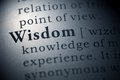 Wisdom dictionary definition of the word Royalty Free Stock Images