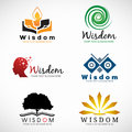 Wisdom and knowledge logo vector set design Royalty Free Stock Photo