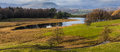 Wise een tarn panorama of in the english lake district Royalty Free Stock Photo