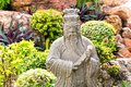 Wise man statue in garden of wat pho Stock Photos