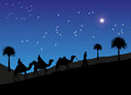 Wise men Following The Star To Bethlehem