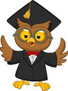 Wise owl cartoon illustration of Stock Photos