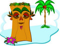Wise Tiki on a Tiny Island Stock Image