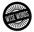 Wise Words rubber stamp Royalty Free Stock Photo