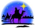 Wisemen silhouette Royalty Free Stock Photo