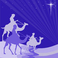 Wisemen silhouette illustration of three wise men on their way to bethlehem Royalty Free Stock Photos