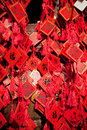 Wish cards in a buddhist temple in beijing china Stock Photo