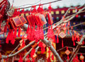 Wish cards in a buddhist temple in beijing china Royalty Free Stock Photography
