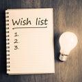 Wish List Royalty Free Stock Photo