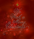 We wish u a merry christmas with typography design Royalty Free Stock Photos