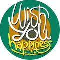 Wish you happiness art illustration