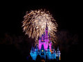 Wishes nighttime spectacular fireworks over cinderella castle magic kingdom disney world orlando usa Royalty Free Stock Photos