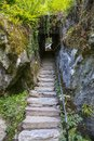 The Wishing Steps at Blarney Castle in Republic of Ireland Royalty Free Stock Photo