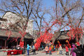 Wishing tree chinese in the temple fair in spring festival Stock Photography