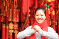 Wishing you a happy chinese new year young asian woman Stock Photography