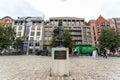 Wiske door carla kamphuis meijer monument in antwerp belgium oct on october near the harbor of Royalty Free Stock Photos