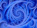 Wispy Blue Spirals Pattern Royalty Free Stock Photo