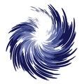 Wispy Feathery Blue Swirl Stock Images