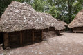 Wisz s farmstead ancient wooden in biskupin archaeological site Stock Photography