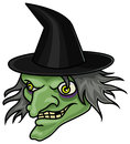 Witch a cartoon halloween head or mask Royalty Free Stock Images