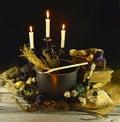Witch cauldron Royalty Free Stock Photo