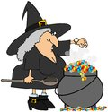 Witch checking her watch Stock Image