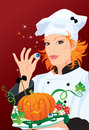 Witch - chef cooking for Halloween party Stock Photo