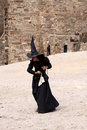 Witch at genoa helmet fest festival of the historical restoration sudak village crimea Stock Image