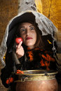 Witch giving a poisened apple Stock Image