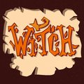 Witch. Grunge poster. Hand drawn illustration with hand-lettering and decoration elements. Halloween party hand drawn Royalty Free Stock Photo