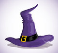 Witch hat vector illustration background Royalty Free Stock Photography