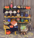 Witch house halloween composition of interior Stock Image