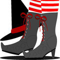 Witch's shoes Stock Image