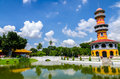 Withun thasasa tower ho ayuthaya thailand the observatory located in bang pa in palace Stock Photo