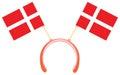 Witty headdress flags denmark with vector illustration Royalty Free Stock Photos